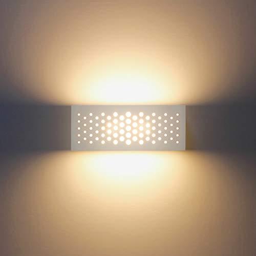 Luces de pared LED modernas Lámparas de pared de yeso para interiores Luces de pared Aplique Lámpara...