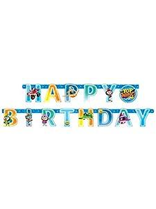 "Amscan 9904876 - Pancarta con texto""Happy Birthday"""