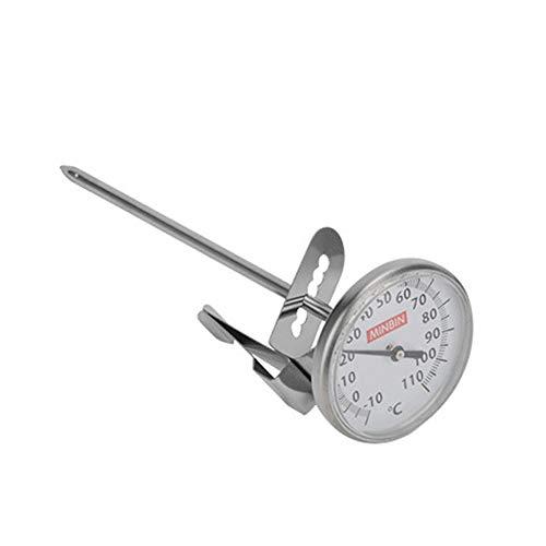 Thermometer Lebensmittel Mit Clip Lange Sonde Kochen Metall Küchenwerkzeuge Tee Heimgebrauch Temperaturregelung Milchaufschäumen Großes Zifferblatt Kaffee(S) -
