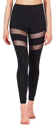 Merry Style Damen Lange Leggings Fitnesshose aus Viskose MS10-232 (Schwarz, XXL (Herstellergröße: 44))