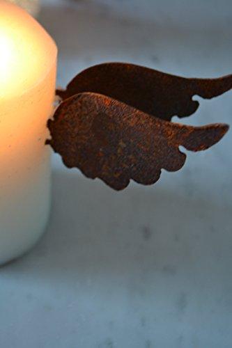 Kerzenstecker-- sehr hübsche dekorative Kerzenstecker Engelsflügel - 2 Stück/Pack. für die weihnachtliche Dekoration