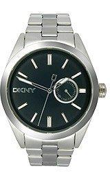 DKNY Nolita Black Silver Steel Men's watch #NY1534