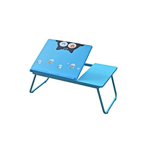 Laptoptisch Laptop Betttisch Faltbar Lapdesk Notebook Lese Tisch Stabiler Tragbarer Laptopständer Für Frühstücks, Notebook, Bücher, Minitable, Bett Tablett 55x32x23cm - Blau