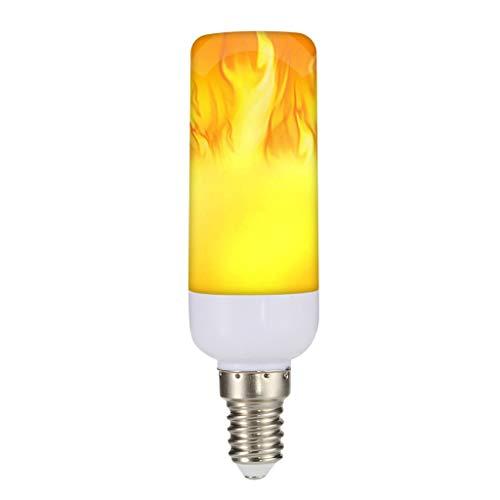 Dkings 2 Pack LED-Flammeneffekt-Glühbirne,Standard-E14-Sockel flackerndes Feuerlicht,dekorative Lampe für Halloween- und Weihnachtsfeiertagsatmosphäre,LED-mit Reverse-Effekt-Modus Montieren Sie (C)