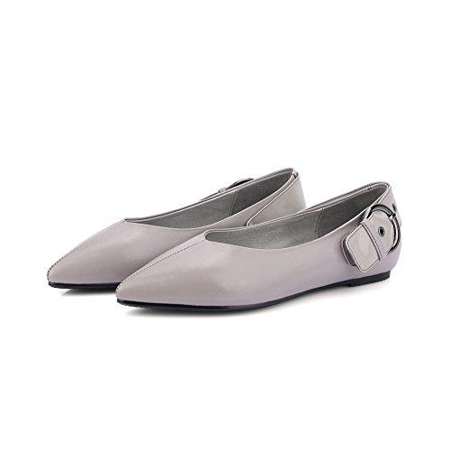 Scarpe piatte di superficiale moda donna in primavera/la versione coreana di una fibbia scarpe a punta/comfort women shoes C