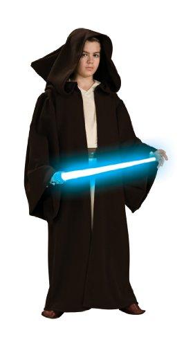 Star Wars Jedi Robe Kostüm Deluxe für Kinder - Größe (Jungen Kostüme Jedi)