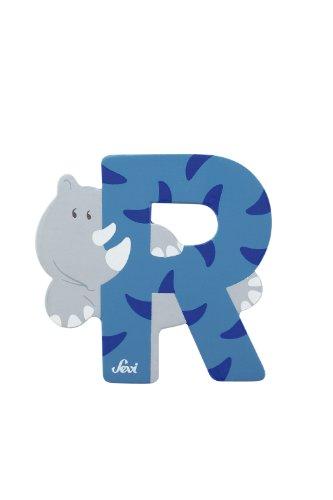 Trudi 81618 - Sevi Tierbuchstabe Rhinozeros R hellblau