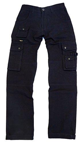 Cargo-chaps (Kakadu Traders Australia robuste Outdoor Herren Cargo Hose mit vielen Taschen und Extras in braun, Khaki, blau und schwarz)
