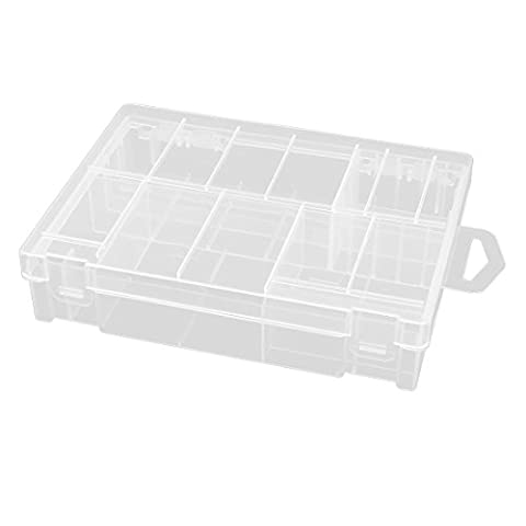 sourcingmap® Clear Plastic Storage Battery Box Case for AA/AAA/2th/D Batteries