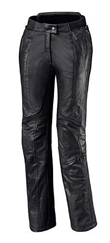 Held Lena modische Motorrad Damen Lederhose, Farbe schwarz, Größe 34
