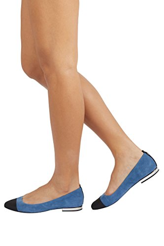 next Donna Forever Comfort - Ballerine in Pelle con La Punta Rivestita Blu