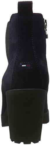 Hilfiger Denim Damen B1385oo 1b Chelsea Boots Blau (midnight 403)