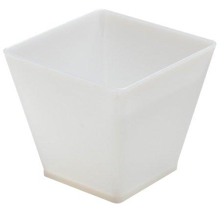 Elegantes Hard Kunststoff Quadratisch Mini Cube Dessert Cups/Kleine Cube Schalen–60(LSF15)–Weiß–20Stück (Parfait Dessert)