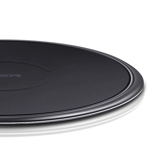 ESR Chargeur à Induction sans Fil Qi [Garantie à Vie] 5W pour iPhone XR/Xs Max/Xs/X/8/8 Plus, [Charge Rapide] 10W pour Samsung Galaxy Note 9 / S9 / S9+ / S8 / S7 (sans chargeur secteur QC) Noir