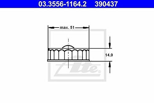 Preisvergleich Produktbild ATE 03.3556-1164.2 Verschluss,  Bremsflüssigkeitsbehälter