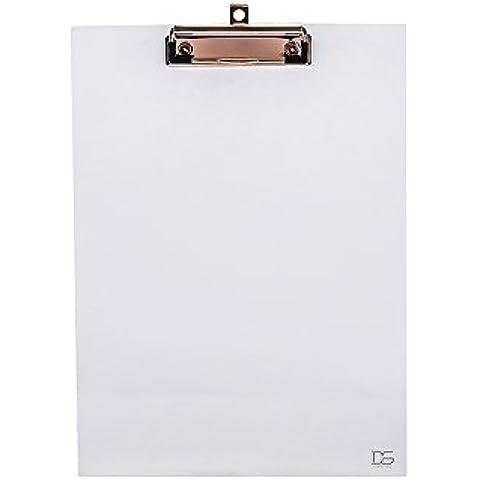 Draymond Story Portapapeles acrílico transparente - Para papel A4 de 9x12 pulgadas (papel de escritorio)