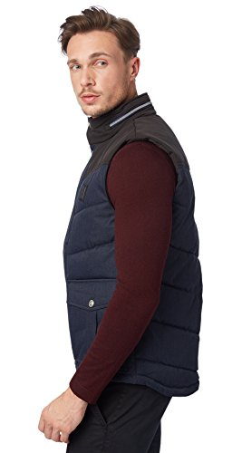 Tom Tailor - Doudoune sans manches Tom Tailor Quilted bleu foncé