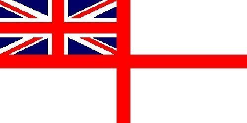 Giant White Ensign - 8ft x 5ft FLAG BANNER DECORATION WITH FREE UK POSTAGE by Top Brand -