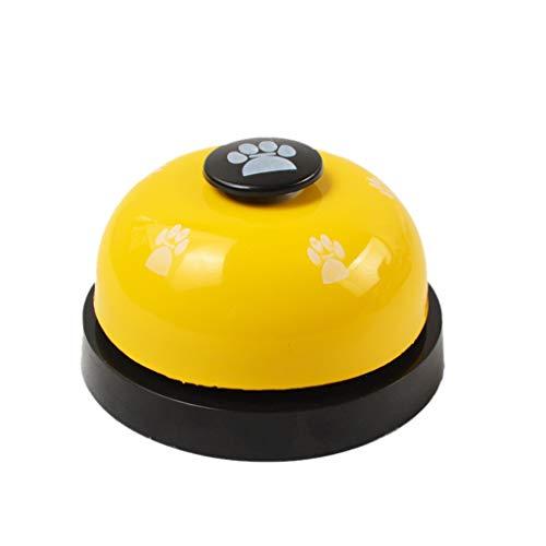 JKRTR Intelligenz Spielzeug Pet Training Bells Hundeglocke für Töpfchen und Kommunikationsgerät (Gelb,7x4.5cm)