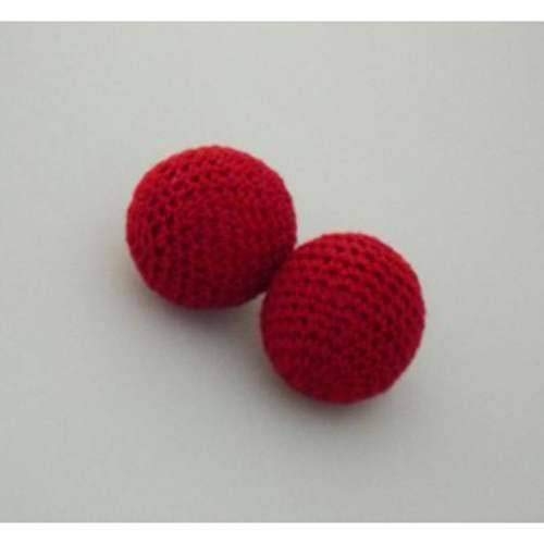 SOLOMAGIA Chop Cup Balls - Red Set of 2 (Ordinary and Magnetic) - 2.5 cm - Accessories - Zaubertricks und Props Chop Cup Balls