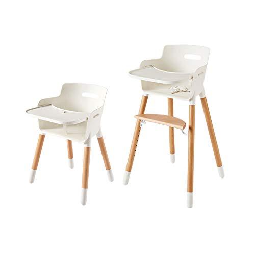 en Bois Ergonomique Chaise Haute Chaise de Salle à Manger pour bébé Siège Enfant Multifonctions Portable Hauteur réglable Facile à Nettoyer