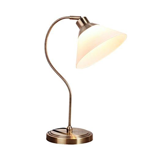 Desk lamp LI Jing Shop - Type de pêche Boule Axe Suspension Lampe de Table Européenne Lire Écrit Lumière LED E27 Source de Lumière Interrupteur d'alimentation Bouton Taille 18X48X23 cm Espace 5~8㎡