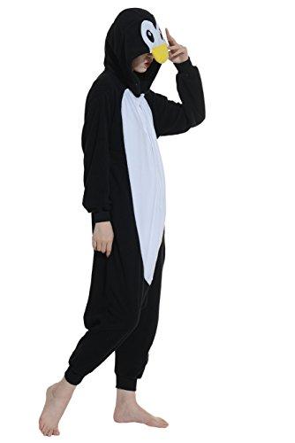 Imagen de wamvp adulto animal pyjamas kigurumi unisexo traje disfraz onesie halloween negro s alternativa