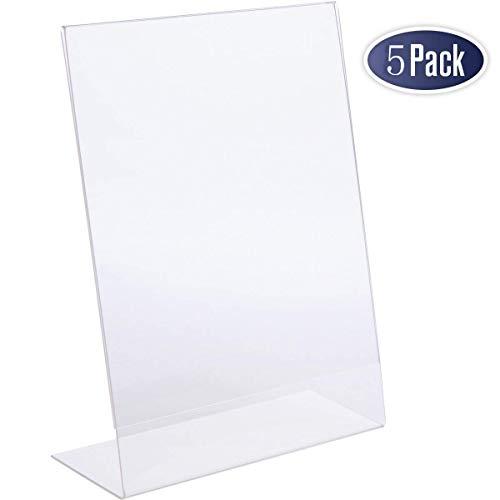 FOBUY 5X A4 Acryl Poster Menü Halter Lean Plexiglas Prospektständer