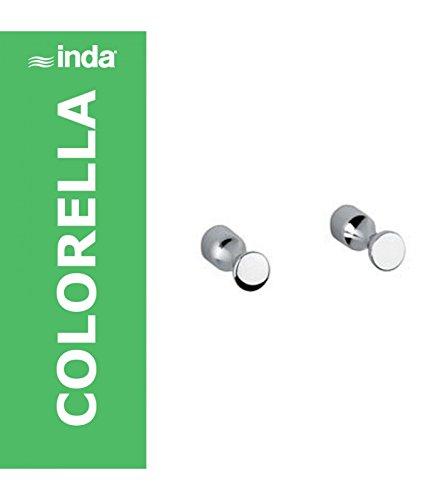 INDA Colorella appendiabito, 2 pezzi, Cromo, A05610