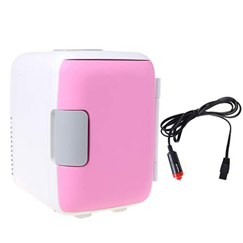 Youliy Mini-Kühlschrank-Kühler und Wärmer für den Doppelgebrauch, extrem leise, Kompatibilität mit Wechselstrom und Gleichstrom, 4 l Fassungsvermögen rose