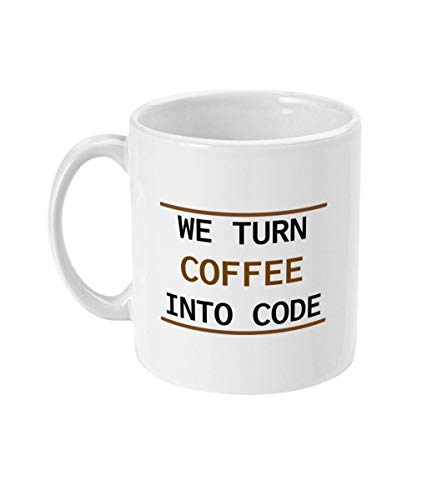 Alicert5II Wir Machen Kaffee in Code Becher Codierer Geschenk Codierung Nerd Geschenk f¨¹r Geeks Geek Programmierer lustige Kaffee Computer Programm Programmierung Becher (Computer-programmierung-becher)