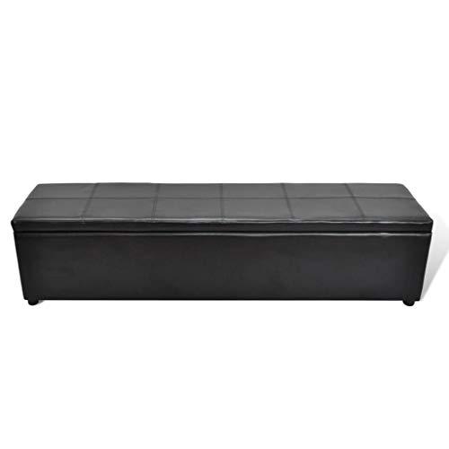 Xinglieu panca contenitore cassapanca grande nera panche da interno panca ingresso
