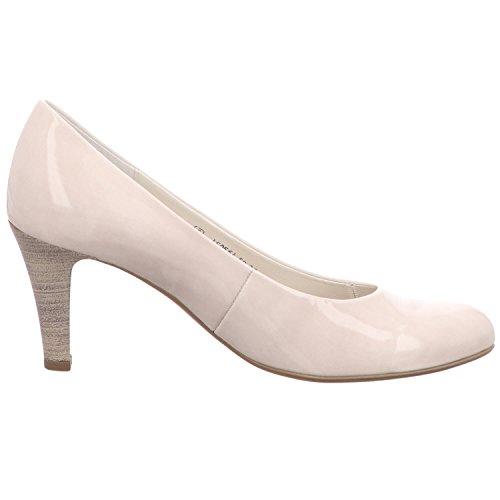 Gabor 85-210 Schuhe Damen Pumps Weite F Kaffir Lack Light Grey