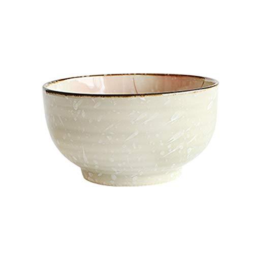 HYDT Bol Assiette creuse, plat ménager, Vaisselle en céramique peinte à la main, assiette Western assiette en forme de riz, assiette en forme de poisson, rose (Couleur : 5.1 inch Japanese bowl)