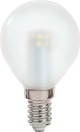 Lampadina a sfera led tuttovetro luce calda 2 5 20w e14 for Lampadine faretti led luce calda