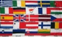 Flagge 90 x 150 : Europa 25 Länderflaggen