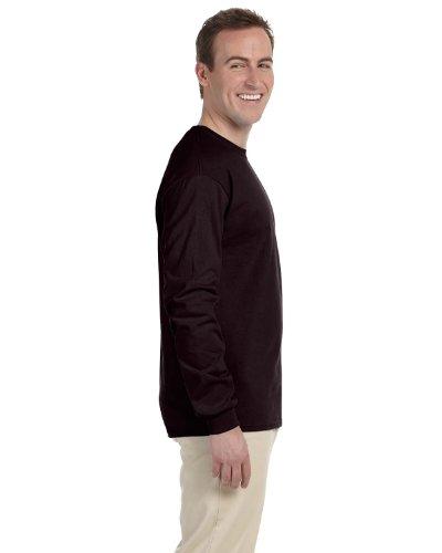 Gildan Camicia da donna–Per uomo Cioccolato scuro