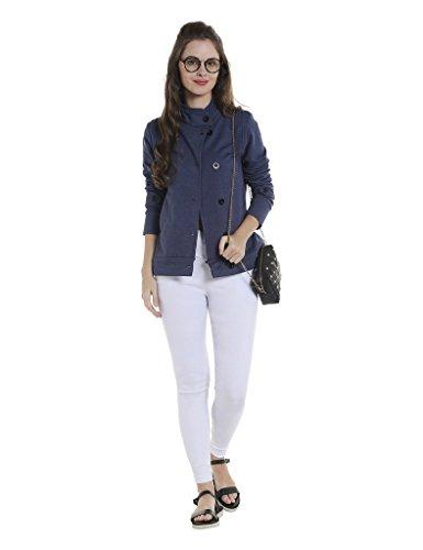 Campus Sutra Women's Plain Jacket (AZW17_JKHNK_W_PLN_DN_AZ_M)