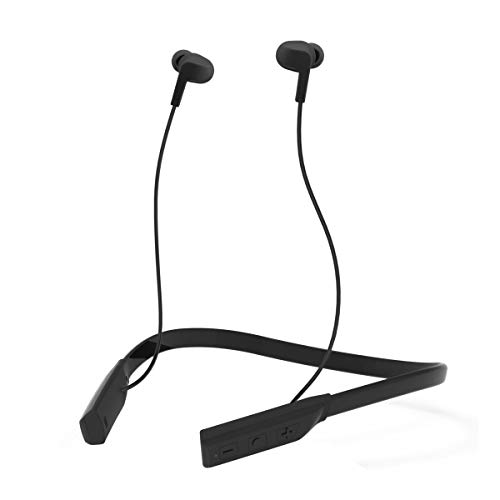 Portronics Harmonics 220, HD Stereo Wireless Bluetooth Sports Headset with High Bass, Powerful Audio Drivers Comfortable Fit, for All Android & iOS Devices, Black