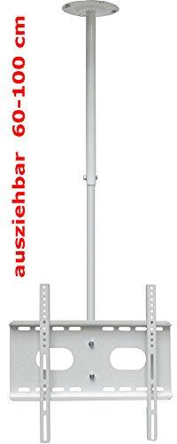 Support TV Support pour plafond, mansardée et mur (blanc) pour tous les LCD Plasma LED Moniteur 30-63 pouces (76 cm - 160 cm) avec VESA de 100x100 mm à 400x400 mm, réglable à 360 ° Rotation Extensible