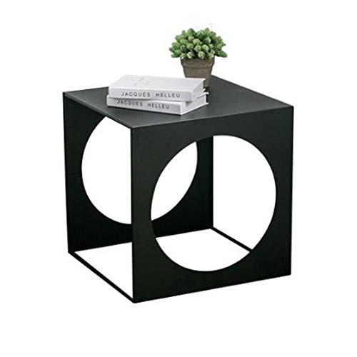 T-Day Beistelltische Nachttisch Tische Couchtisch Schmiedeeisen-kreativer Kleiner Couchtisch, einfacher Wohnzimmer-Schlafzimmer-Lesetisch, Balkon-Topfpflanzen-Regal (Size : 50 * 50 * 50cm)   Schlafzimmer > Nachttische   T-Day