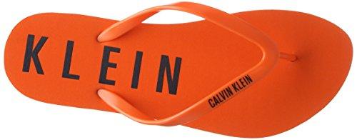 Calvin Klein Flip Flop, Tongs Femme Orange (SAMBA ORANGE 825)
