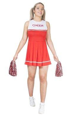 Monster Cheerleader Kostüm rot Größe M Damen Weiberfastnacht Karneval 50058