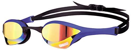 arena Unisex Wettkampf Profi Schwimmbrille Cobra Ultra Mirror (Verspiegelt, UV-Schutz, Anti-Fog Beschichtung), Yellow Revo-Blue (73), One Size