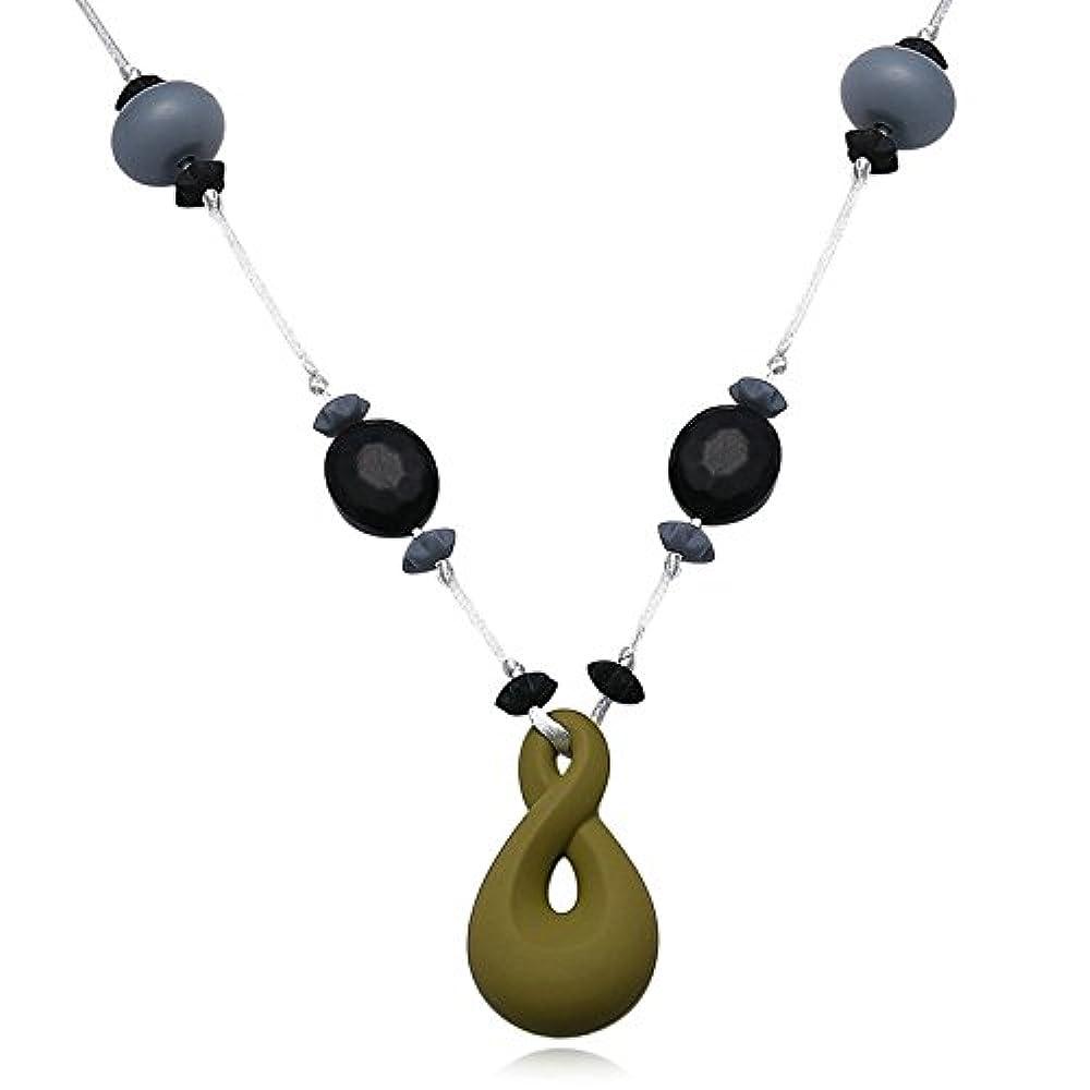 6x3.3CM Edelstahl Halskette für Unisex-Erwachsener Träne Grün von AieniD