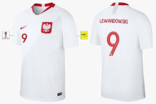 Nike Group Trikot Herren Polen WM 2018 Home - Lewandowski 9 (L)