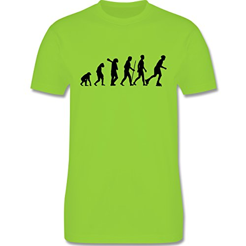 Evolution - Inliner Evolution - Herren Premium T-Shirt Hellgrün
