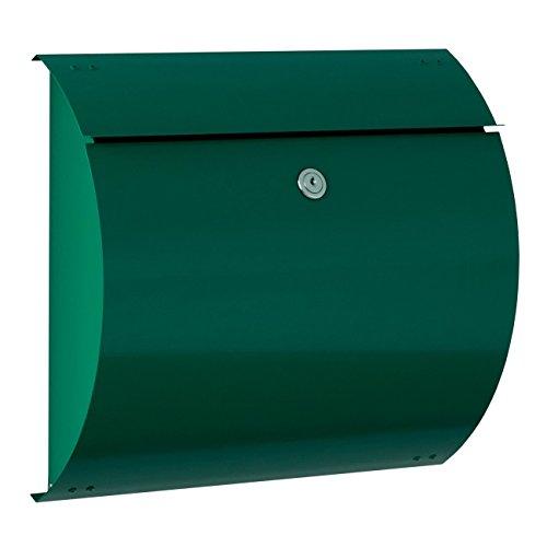 Max Knobloch Briefkasten Honolulu moosgrün (RAL 6005) 10 Liter Wandbriefkasten