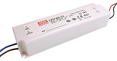 MeanWell d'alimentation, lpv-60de 60–12, spannungskonstant, 110–240V, ac/50–60Hz, 12V, DC, 0–5A, 60W 872614
