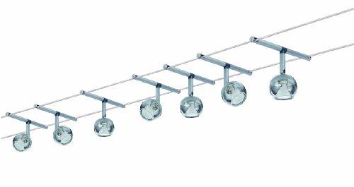 Paulmann Leuchten Wire System Globe, 7 x 20W, GU4 230 / 12V, und 150V, Metall / Glas, chrom matt 94066